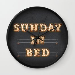Sunday in Bed Wall Clock