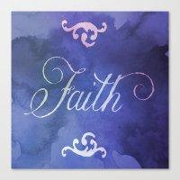 faith Canvas Prints featuring Faith by Camille