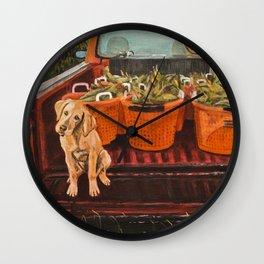 Farm Dog Wall Clock