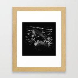 Great White 5 Framed Art Print