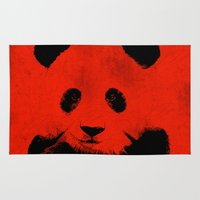 red panda Area & Throw Rugs featuring Red Panda by Laura Brightwood
