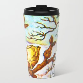 Branch of a Pear tree in Winter Travel Mug