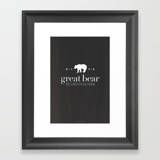 Great Bear Recreation Park Framed Art Print