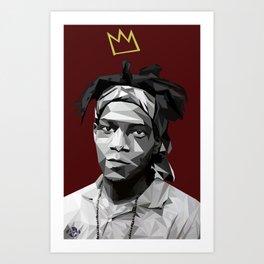 Geometric Basquiat Art Print