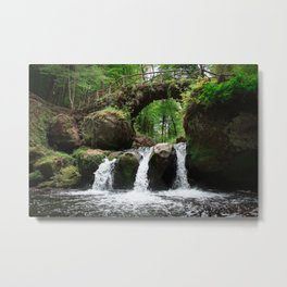 Waterfall in Luxembourg (Mullerthal) Metal Print