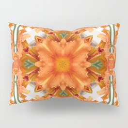 Abstract kaleidoscope of a beautiful day lily Pillow Sham