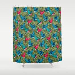 Retro birds pattern Shower Curtain