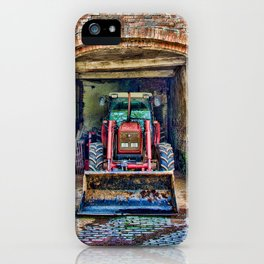 Tractor at rest iPhone Case