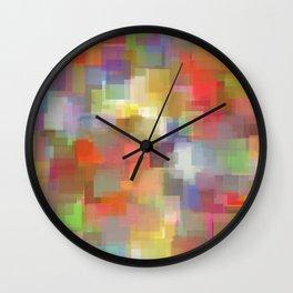 Padparadscha Cubism Wall Clock