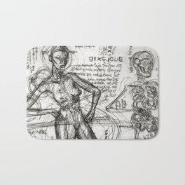 Clone Death - Intaglio / Printmaking Bath Mat