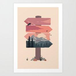sign post Art Print