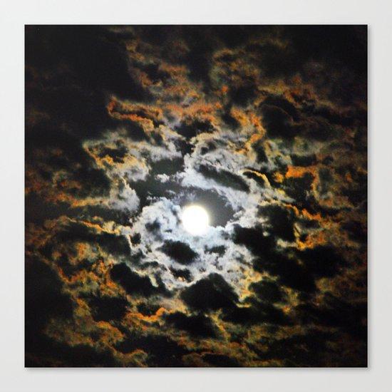 Tiger Full Moon Canvas Print