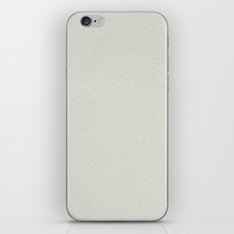 White leather texture iPhone Skin