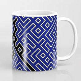 labyrinth in black and blue Coffee Mug
