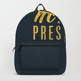 Not My President 1.0 - Gold on Navy #resistance Backpack
