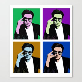 Sebastian Stan Pop Art Canvas Print