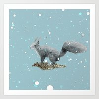 squirrel Art Prints featuring SQuirrel by Monika Strigel