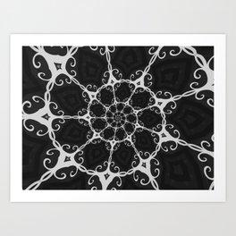 Dark Mandala #3 Art Print