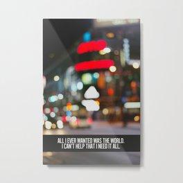 marina + the diamonds - world. Metal Print