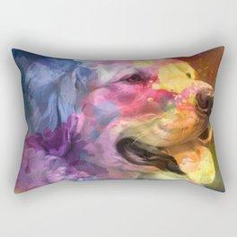 Paint Your Dog Rectangular Pillow