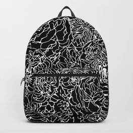 SPRING IN WHITE AND BLACK Backpack