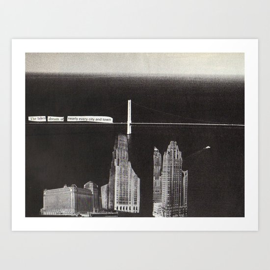 the buildings dream Art Print