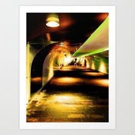 Tunnel to train Art Print