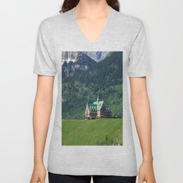 Prince of Wales Hotel in Waterton Lake Park Unisex V-Neck