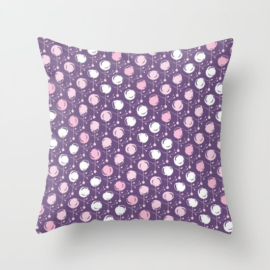 Forest Pattern ~ Cherry Blossoms Throw Pillow