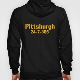Pittsburgh 24-7-365 Shirt For Pittsburgh Football Fans Hoody