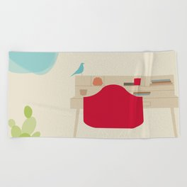 Inside Mid century modern 115 Beach Towel