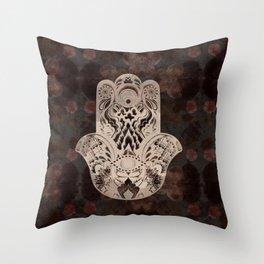 Blush Hamsa Throw Pillow