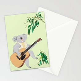 Koala Playing Guitar Stationery Cards