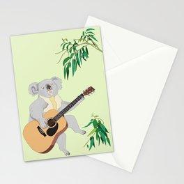 Koala Playing Guitar Stationery Cards