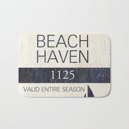 Beach Haven Beach Badge Bath Mat