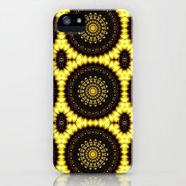 Sunflower Manipulation Grid 2 iPhone Case
