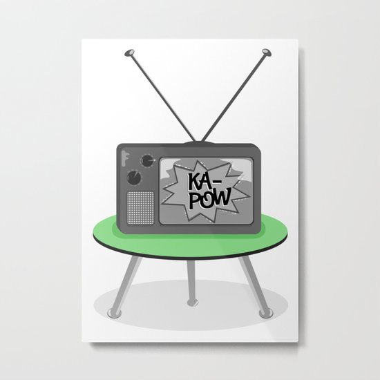 Kapow TV Metal Print