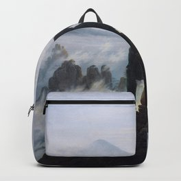 Wanderer above the Sea of Fog Painting by Caspar David Friedrich Backpack