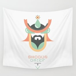 Shogun Grief (Japan Contrasts series) Wall Tapestry