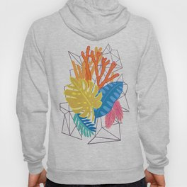 Leaves and corals Hoody
