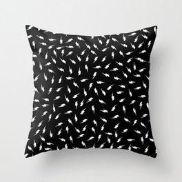Black Bolt Throw Pillow
