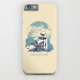 Birdwatcher (blues) iPhone Case
