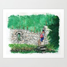 Hiking St. Saviour Art Print