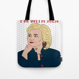 Hillary Clinton I'm With Her Tote Bag