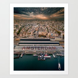 Amsterdam Station from Above Art Print