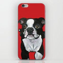 Bobo the Boston terrier iPhone Skin