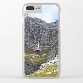 At Table Mountain, Cape Town South Africa Clear iPhone Case