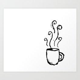 Morning Cup // Coffee Art Art Print