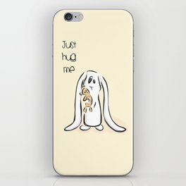 Just Hug Me iPhone Skin