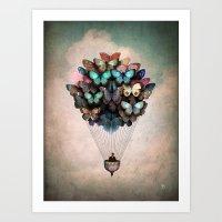 butterflies Art Prints featuring Dream On by Christian Schloe